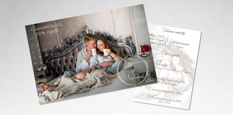 Priešvestuvinė fotosesija - vestuvių kvietimas - G-Invitations