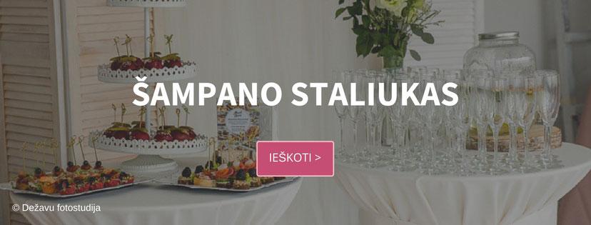 Šampano staliukas - Pasakiškos vestuvės katalogas